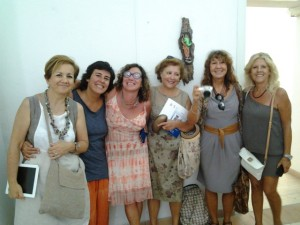 Artiste e non. Da sin: Myriam Cappelletti, Marta Bilbao, Publia Cruciani, Rita Bosso, Maddalena Barletta, Antonella Boscarini