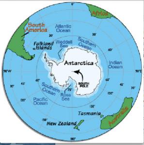 1. Mappa dell'Antartide (semplificata)