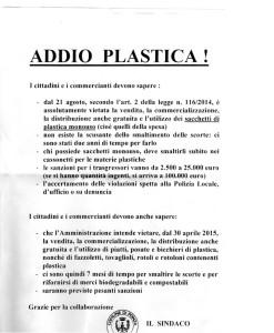 Addio Plastica. Reduc. size