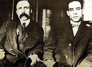 Bartolomeo Vanzetti e Nicola Sacco in manette