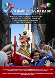 Columbus Day. San Silverio
