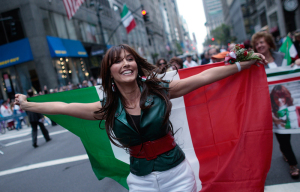 New York's Columbus Day Parade Winds Down Fifth Avenue