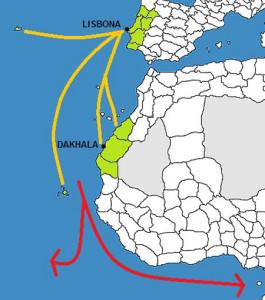 Le rotte portoghesi verso l'Africa.1