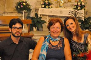 Lucia con i due artisti