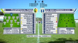 Ponza-S.Lorenzo. Match Report