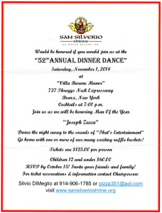 S. Silverio Shrine. 52° Dinner Dance