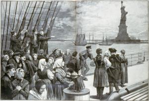 Welcome_to_the_land_of_freedom. Da un giornale illustrato del 1887