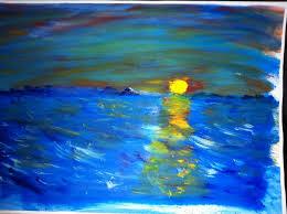 l'isola di io il tramonto