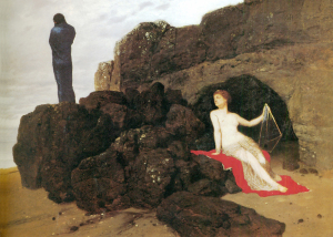 Arnold Böcklin. Ulisse e Calipso
