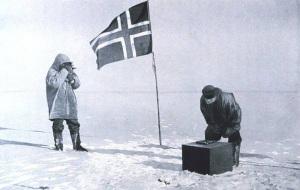 Bandiera Norvegese al Polo Sud