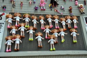 Muro delle bambole a Milano.1
