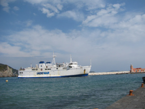 Quirino nel porto di Ponza