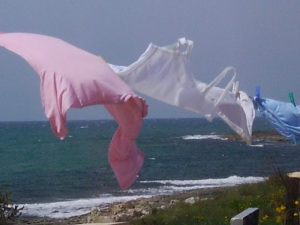 Vento sul mare. Foto di Gianluigia