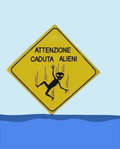 Attenzione. Caduta alieni