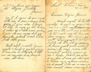 Fantino A. Giacomo. Due pagine autografe
