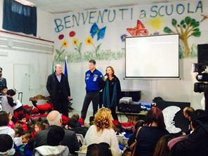 L'astronauta col sindaco e la Prof. Ennia Mazzella