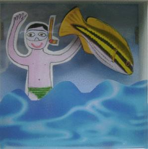 Piccoli pescatori subacquei
