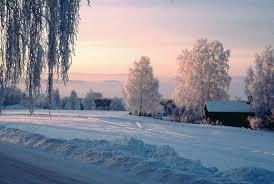 villaggio con la neve