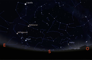 Aldebaran Betelgeuse Rigel