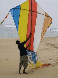 Aquilone a Polhena beach. Matara. Sri Lanka
