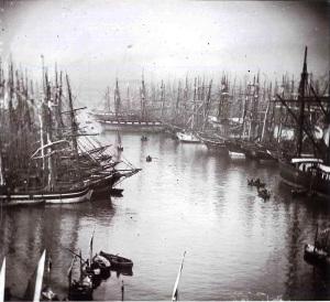Il porto di Marsiglia intorno al 1860-65