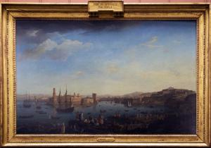 L'entrée_du_port_de_Marseille. Joseph Vernet. Louvre