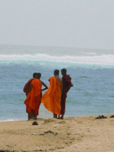 Monks on Polhena beach. Matara SL