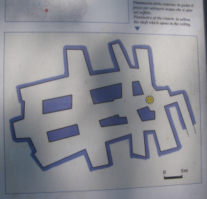 Planimetria della Cisterna della Dragonara