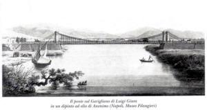 Ponte Garigliano. Dipinto inaugurazione