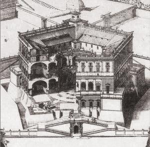 Spaccato prospettico del Palazzo Farnese di Caprarola