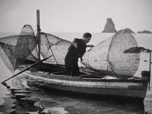 nasse - barca e pescatore