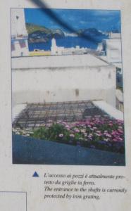La Cisterna di via Parata. Particolare del tabellone