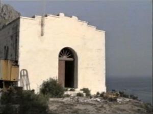 La Galite. La chiesetta negli anni '80