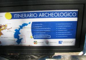 La lista dei siti archeologici considerati