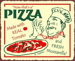 insegna di pizza alla napoletana