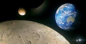 la luna il sole la terra