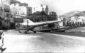 L'Elicottero atterra sulla Banchina nuova