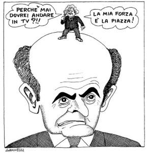 Vignetta Grillo.Bersani