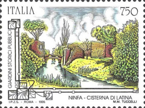 Francobollo dedicato a Ninfa