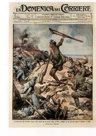 La copertina della Domenica del Corriere dedicata ad Enrico Toti