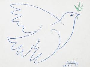 Picasso. Colombe volante. 1961