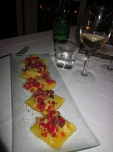 Ponza. Ravioli di pesce spada. Foto di Francesca Mignosa
