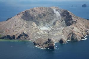 White Island Volcano Aerial Photo