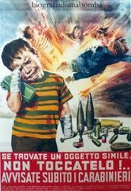 manifesto contro il pericolo delle bombe