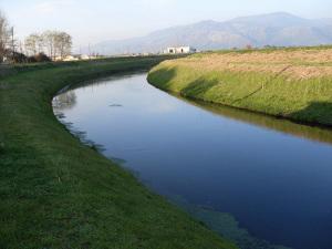 Un canale della bonifica