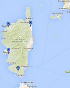 Corsica. Aeroporti