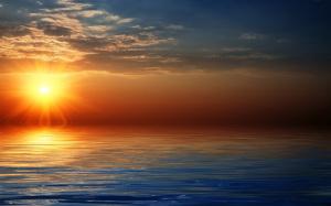 Sereno tramonto estivo