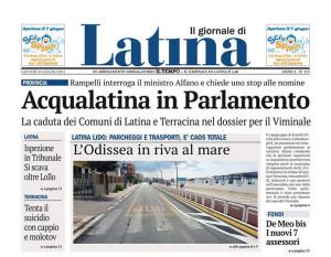 Testata de Il Giornale di Latina del 25 giugno (part.)
