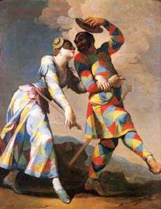 Arlecchino e Colombina di Giovanni Domenico Ferretti 1692-1768