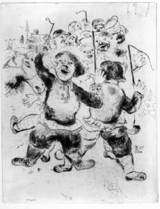 M. Chagall. La folla dei contadini